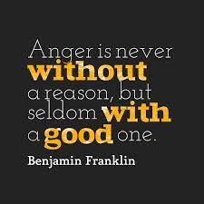 Anger is never